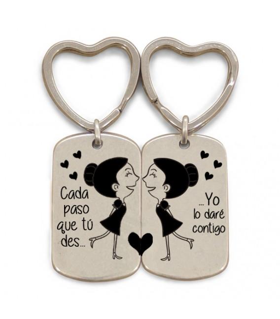 Pack 2 llaveros anilla corazón  - CADA PASO QUE TU DES - GAYS CHICOS