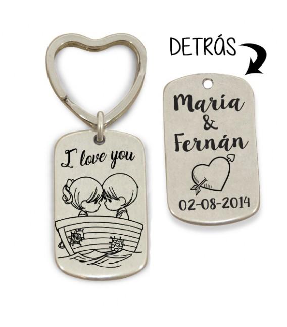 Llavero anilla corazón - I LOVE YOU - SHIP