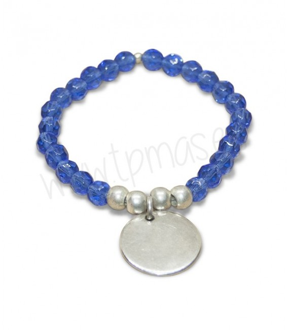 Pulsera cristal azul