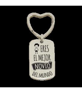 Llavero anilla corazón  - MEJOR NOVIO DEL MUNDO
