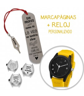 Pack MARCAPÁGINAS PLUMA + RELOJ HUDSON Vs NEW YORIK