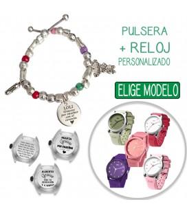 Pack PULSERA PEPITAS + RELOJ PERSONALIZADO