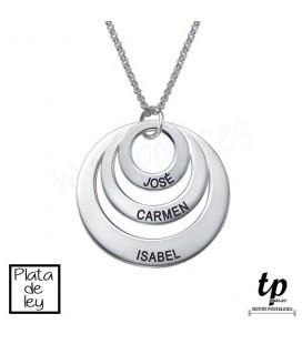 Collar 3 aros - PLATA DE LEY 925