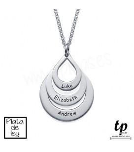 Collar gotas - PLATA DE LEY 925