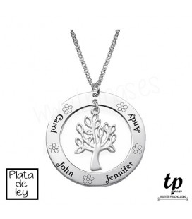Collar árbol de la vida familia - PLATA DE LEY 925