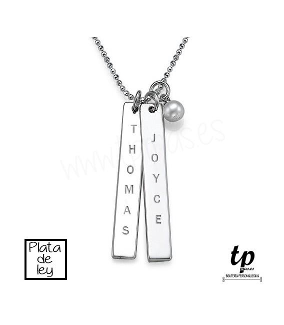 649a743e2c10 Collar barra vertical - PLATA DE LEY 925