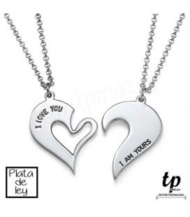 PACK 2 Collares corazones - PLATA DE LEY 925