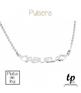 Pulsera ABUELA - PLATA DE LEY 925
