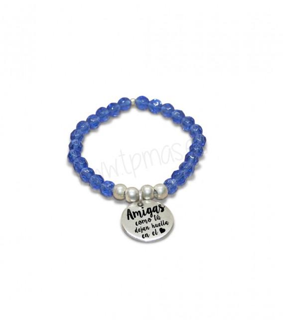 d33ef0157368 Pulsera cristal azul - AMIGAS COMO TU