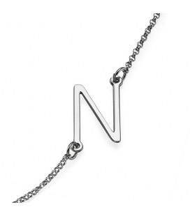 Collar inicial LETRA - PLATA DE LEY 925