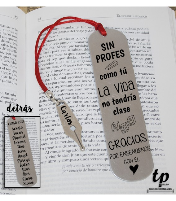 Marcapáginas pluma - SIN PROFES COMO TÚ